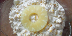 Ananászos-majonézes kukoricasaláta
