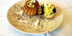 Kókuszos-csokis töltött muffin