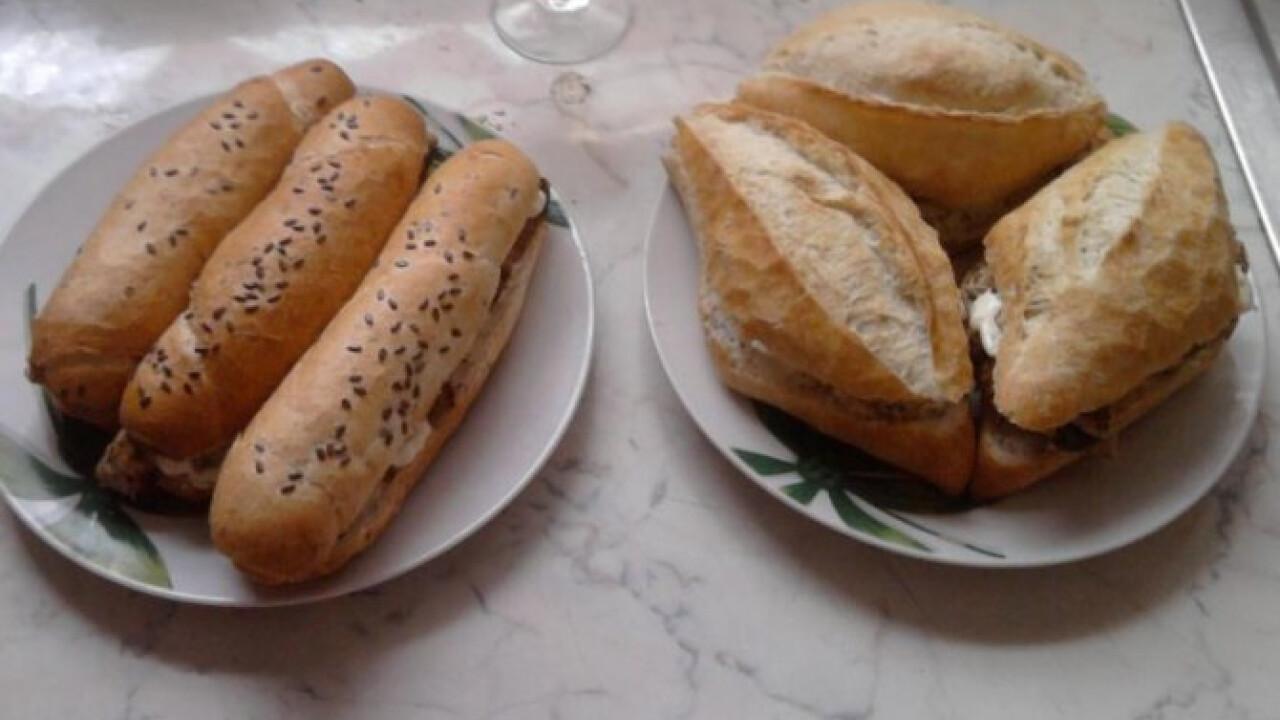 Darált húsos szendvics