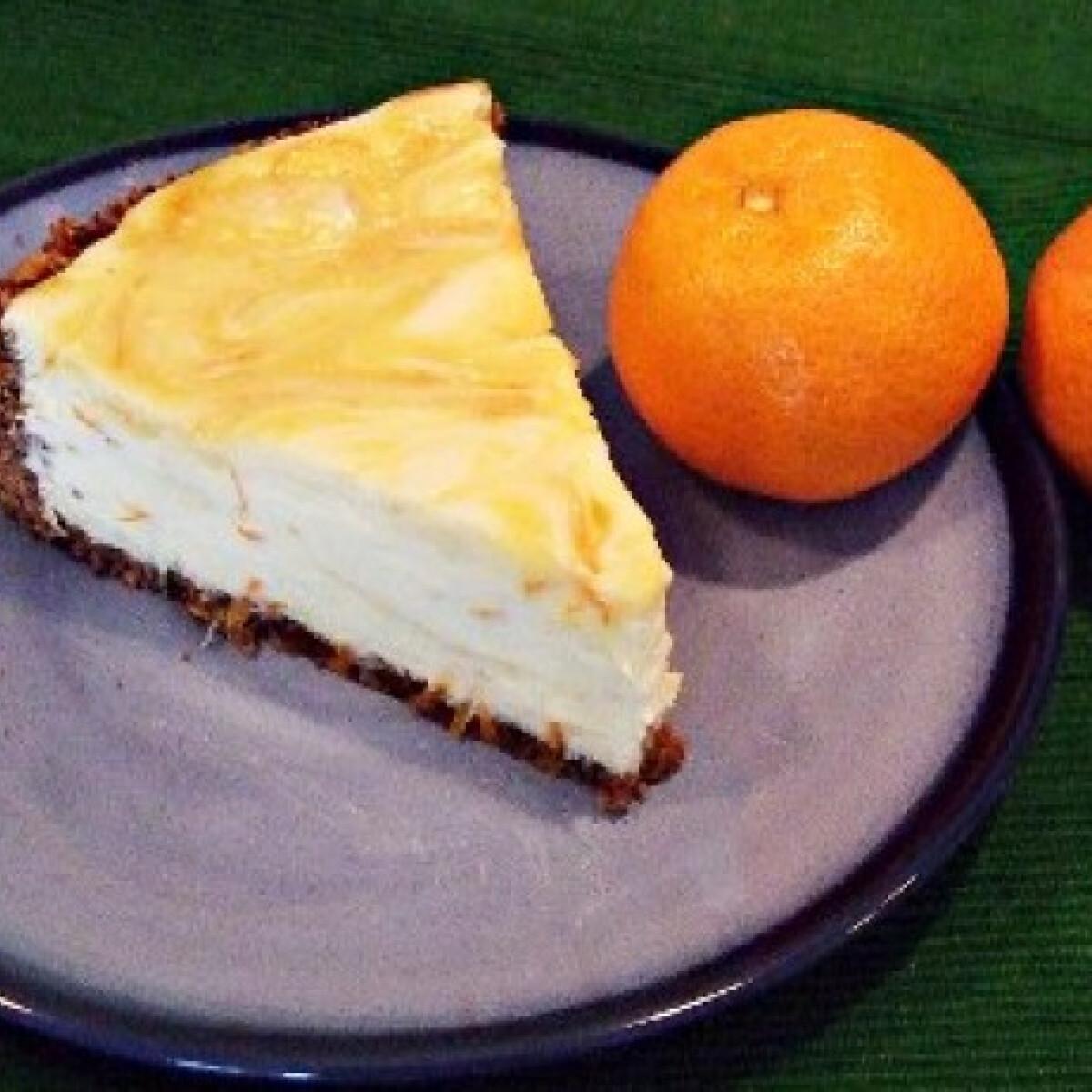 Ezen a képen: Narancsos sajttorta
