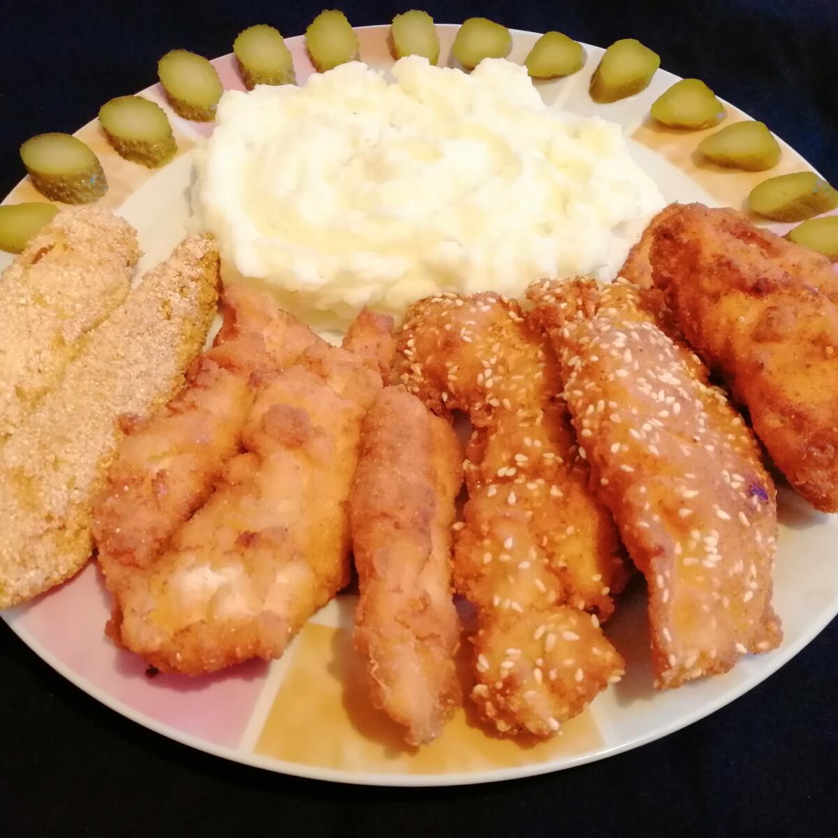 Ezen a képen: Csirkemell négyféle panírban