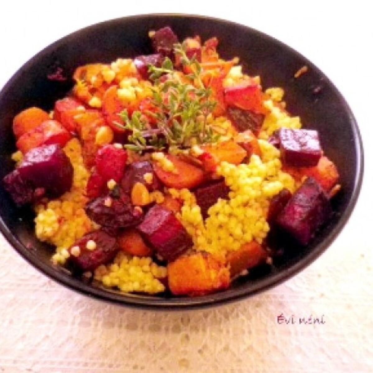 Kölessaláta tepsiben sült zöldségekkel