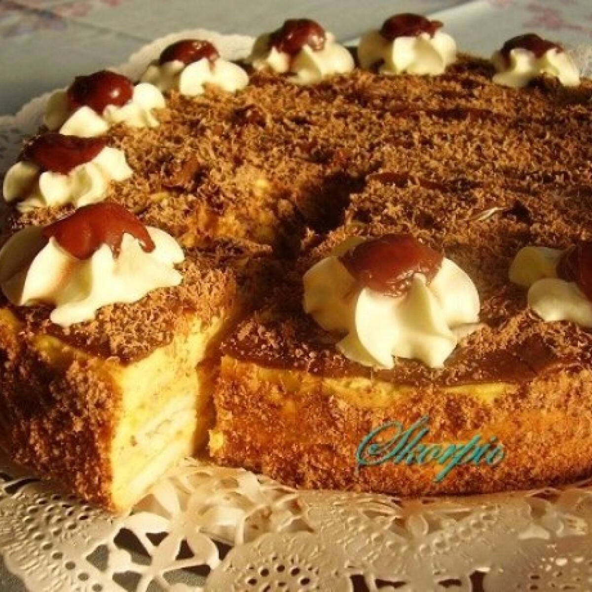 Ezen a képen: Napóleon torta