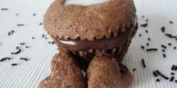 Mogyorókrémes - tejkrémes muffin