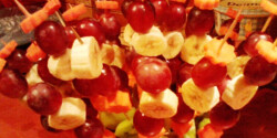 Ehető gyümölcsvirágtál
