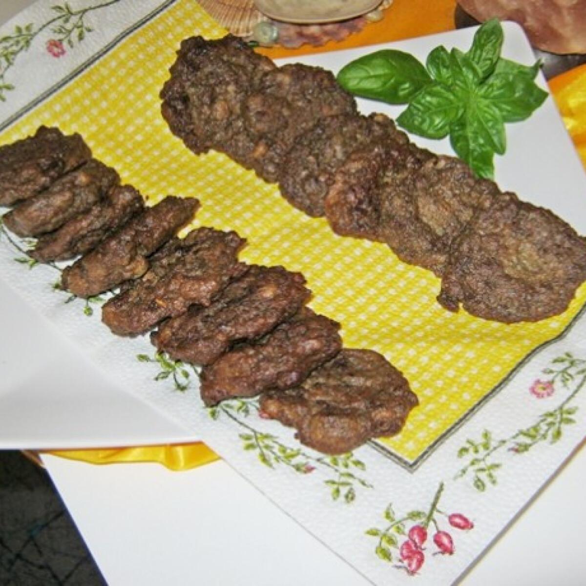Ezen a képen: Csirkemájfasírt ahogy Iluska készíti