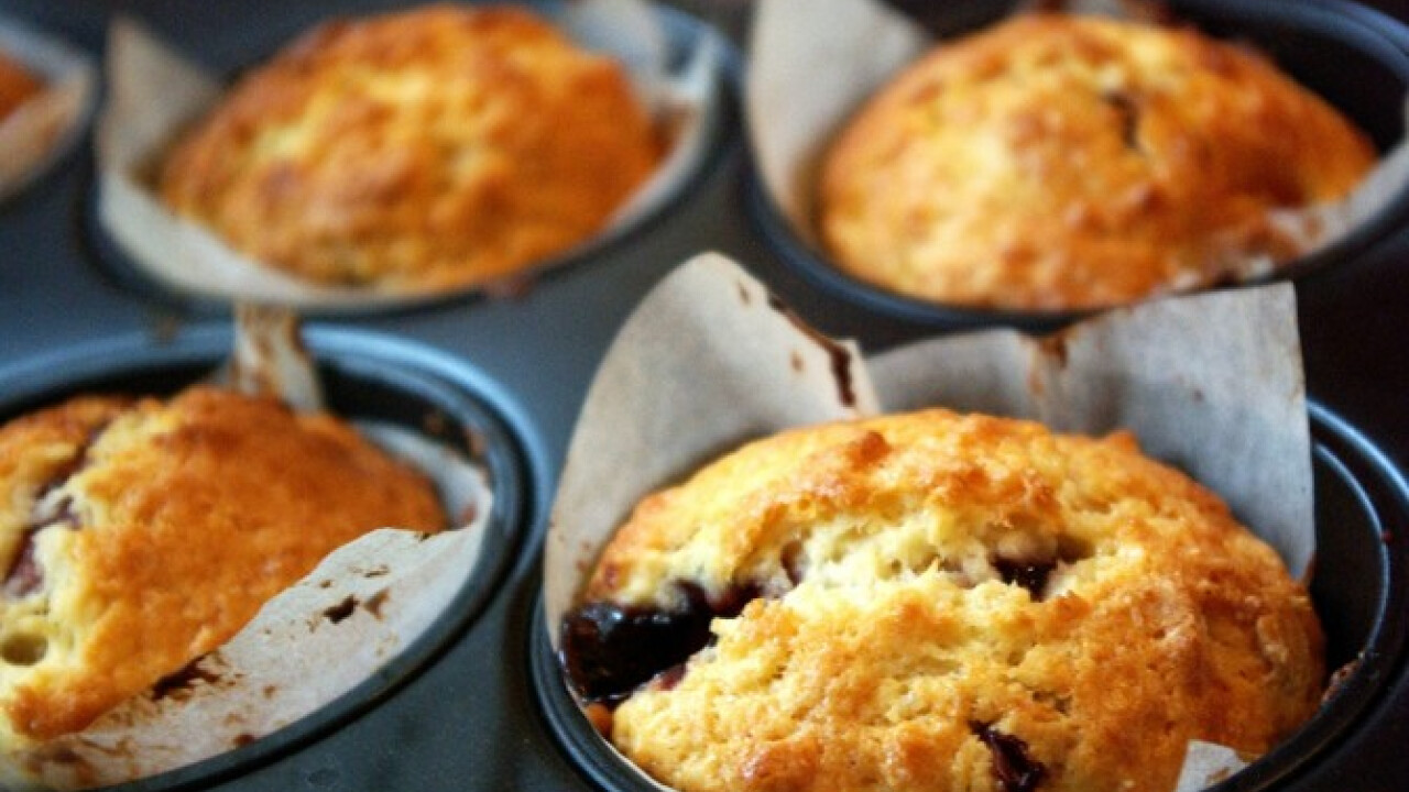 Joghurtos-dzsemes muffin