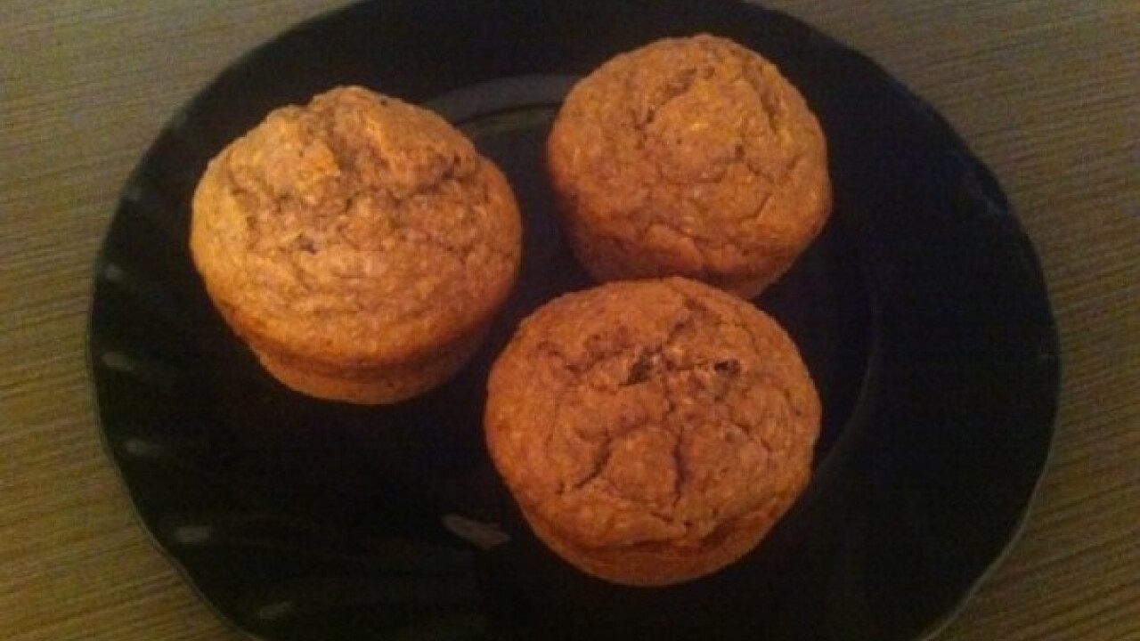 Kókuszos-kakaós fehérje muffin