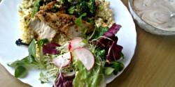 Csirkemell grillezett brokkolival