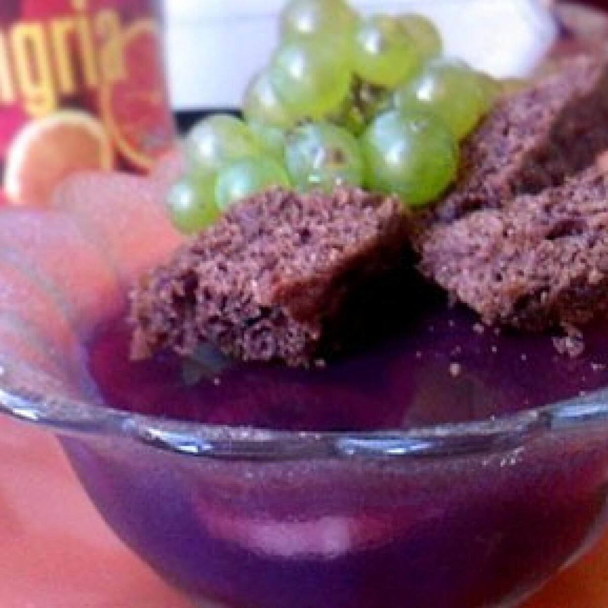 Sangria kocsonya főzés nélkül