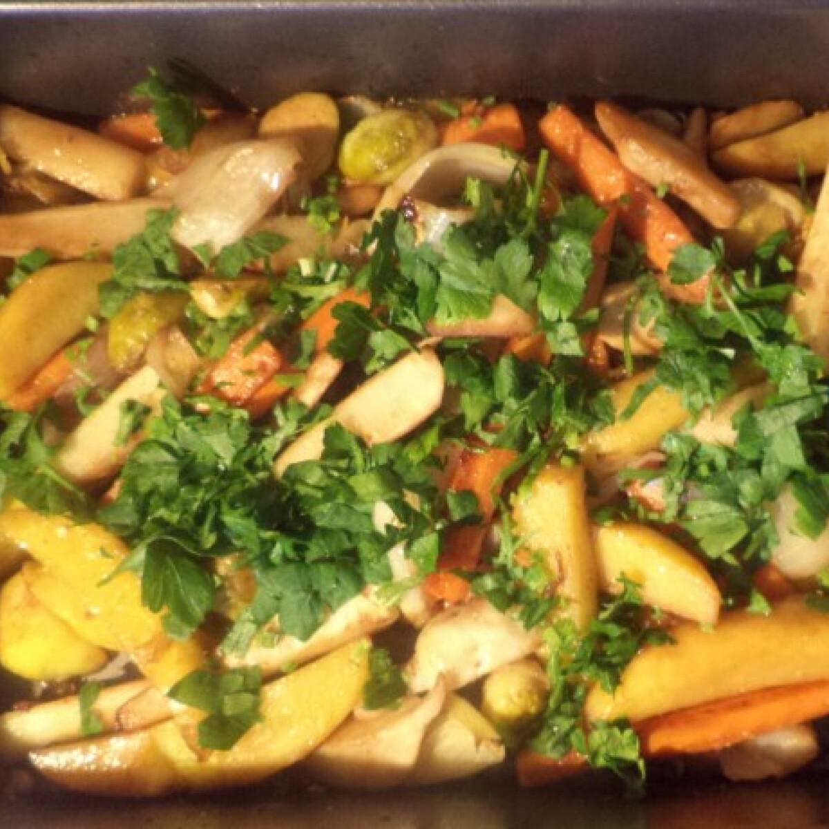 Ezen a képen: Sült zöldségek BackerMan konyhájából