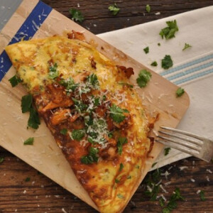 Rókagombás omlett