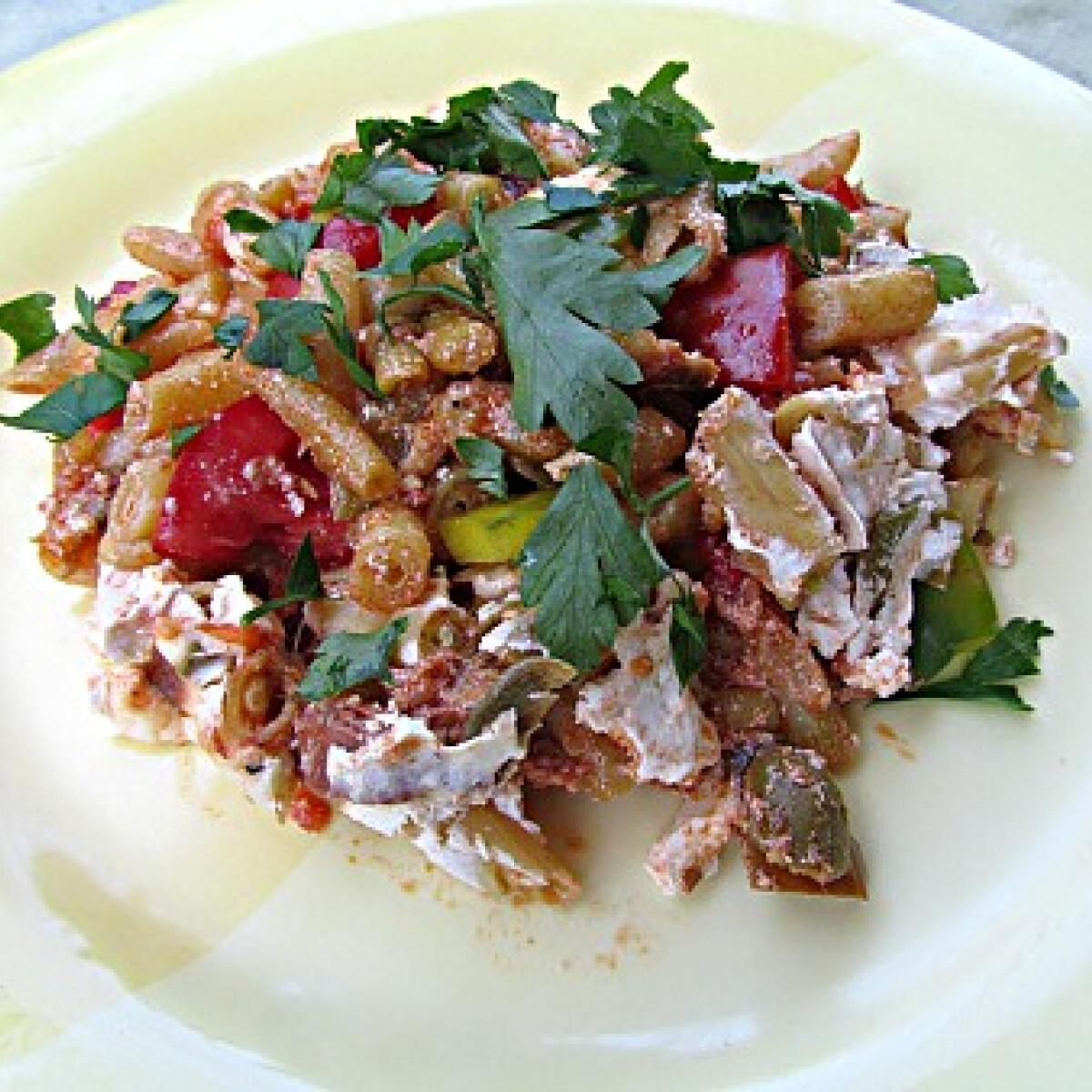 Ezen a képen: Csőben sült zöldbab juhtúróval és kolbásszal