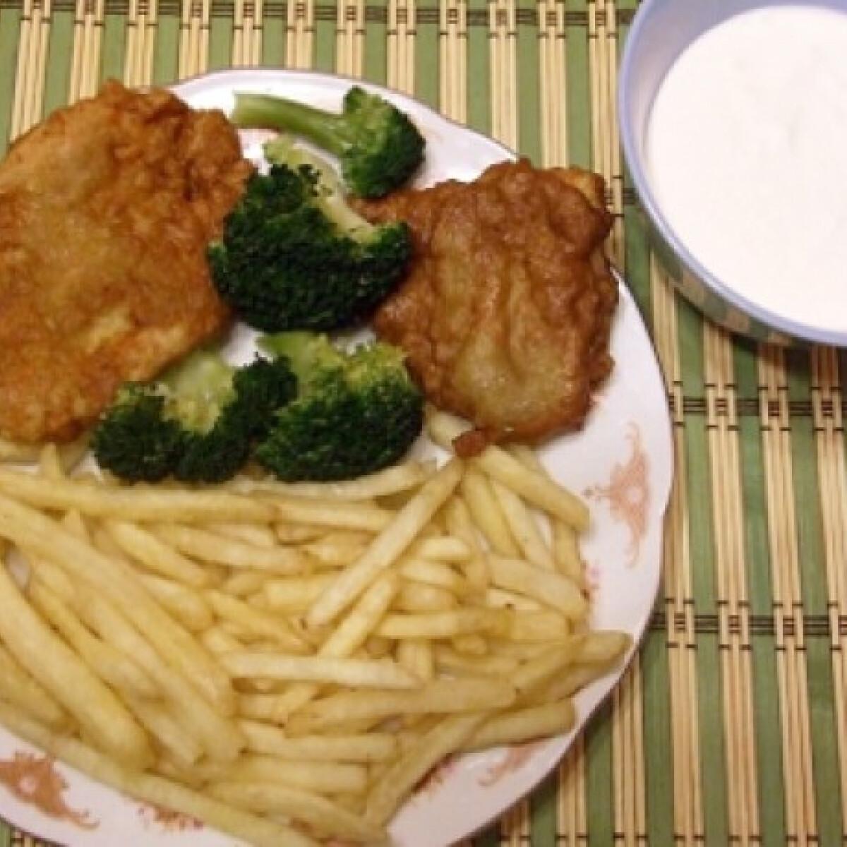 Ezen a képen: Lapcsánka bundában sült csirkemell