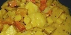 Sütőtökös zöldség sabji