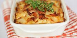 Szalonnás rakott krumpli