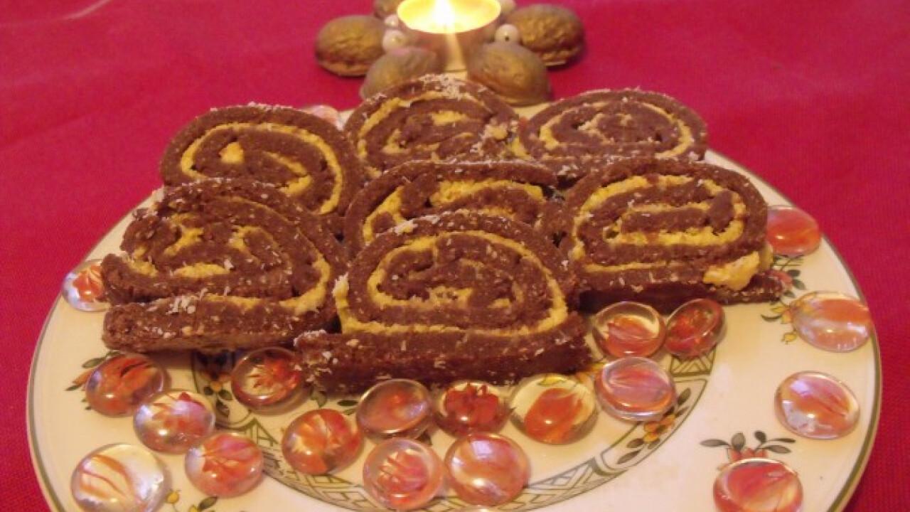Kókuszos keksztekercs Györgyitől