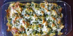 Spenótos rakott tészta