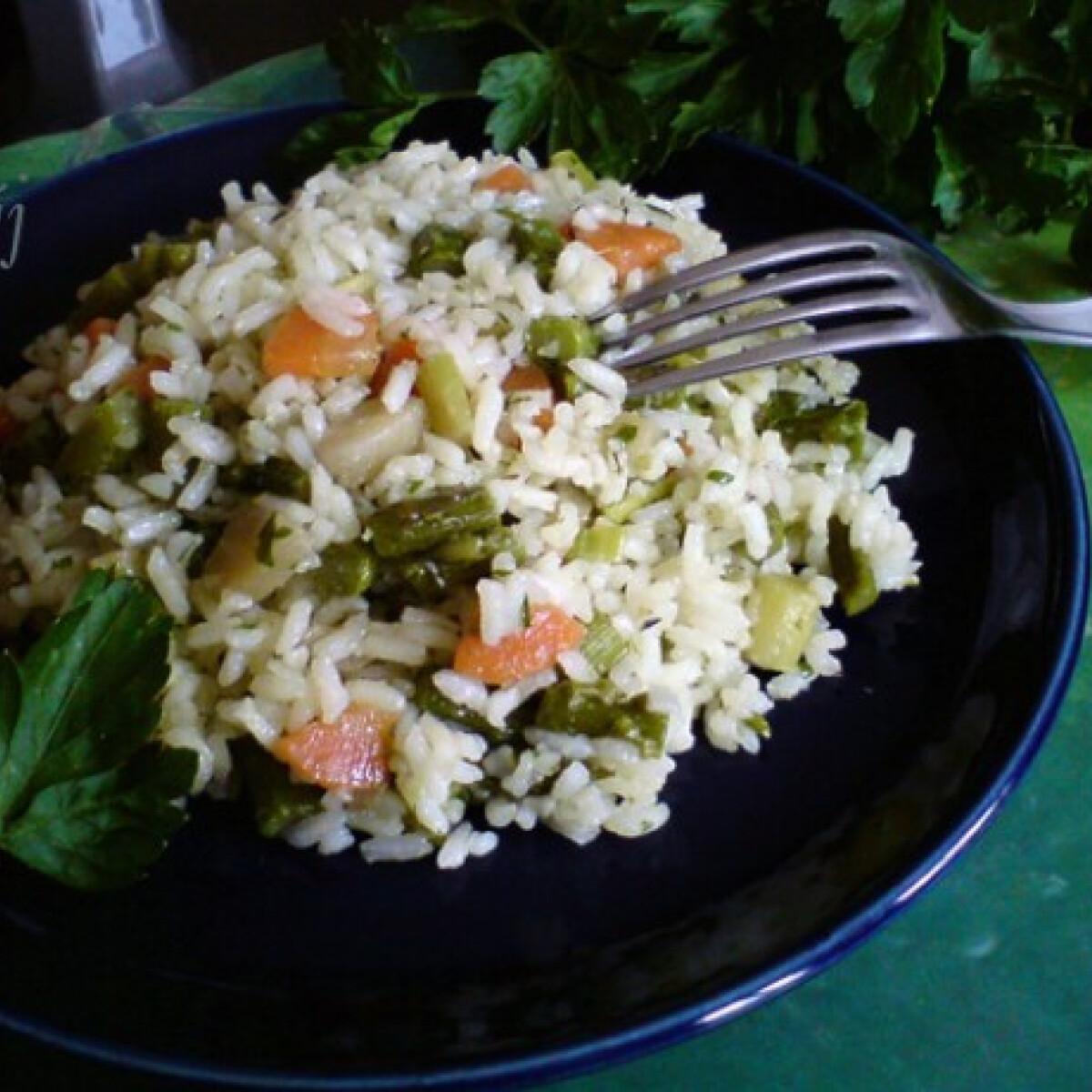 Ezen a képen: Spárgás rizs Fahéj konyhájából