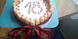 Ribizlis tejberizs torta
