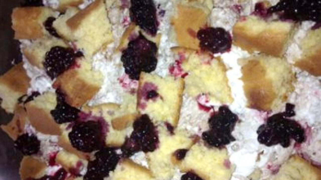 Szedres-mogyorókrémes desszert