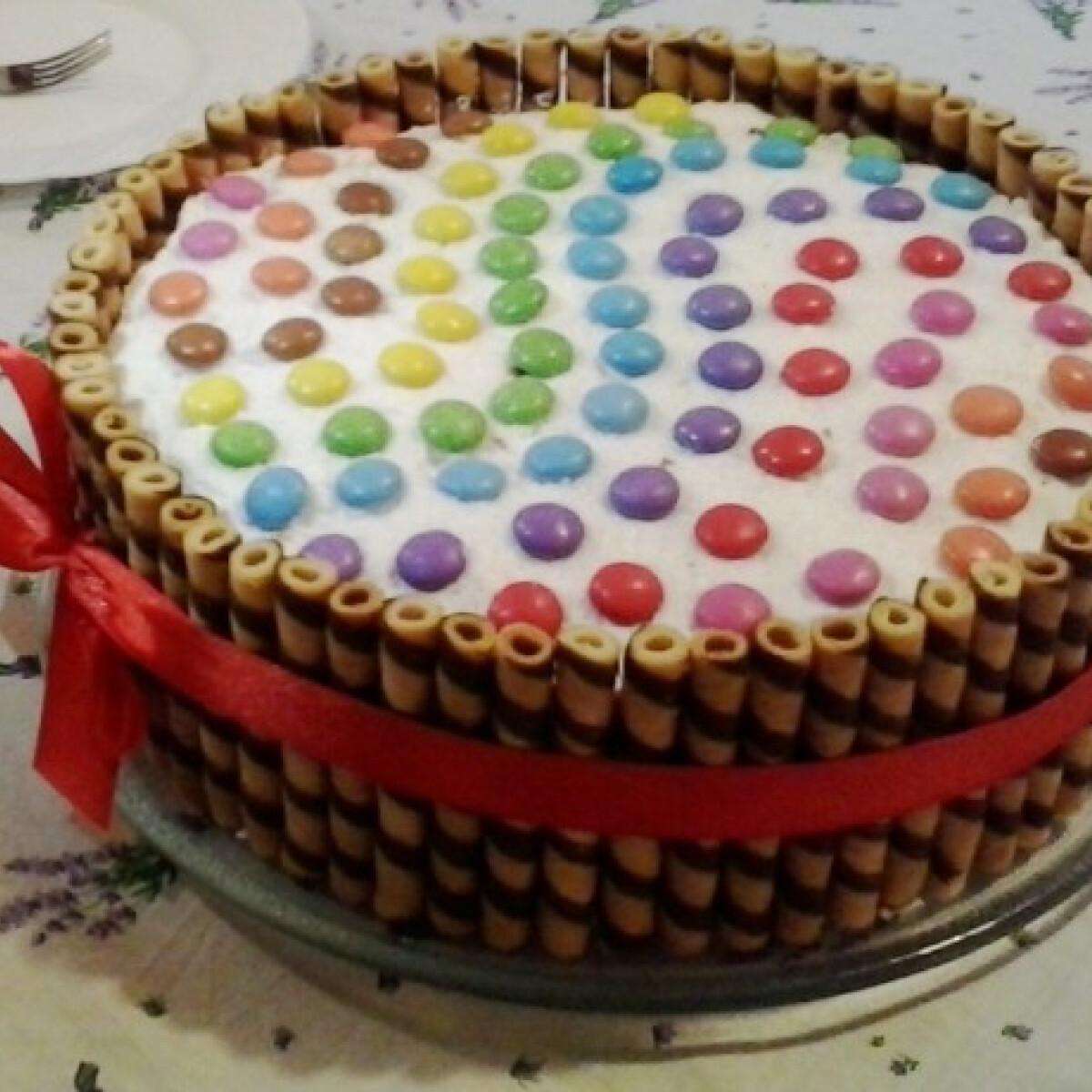 Habos-túrós torta
