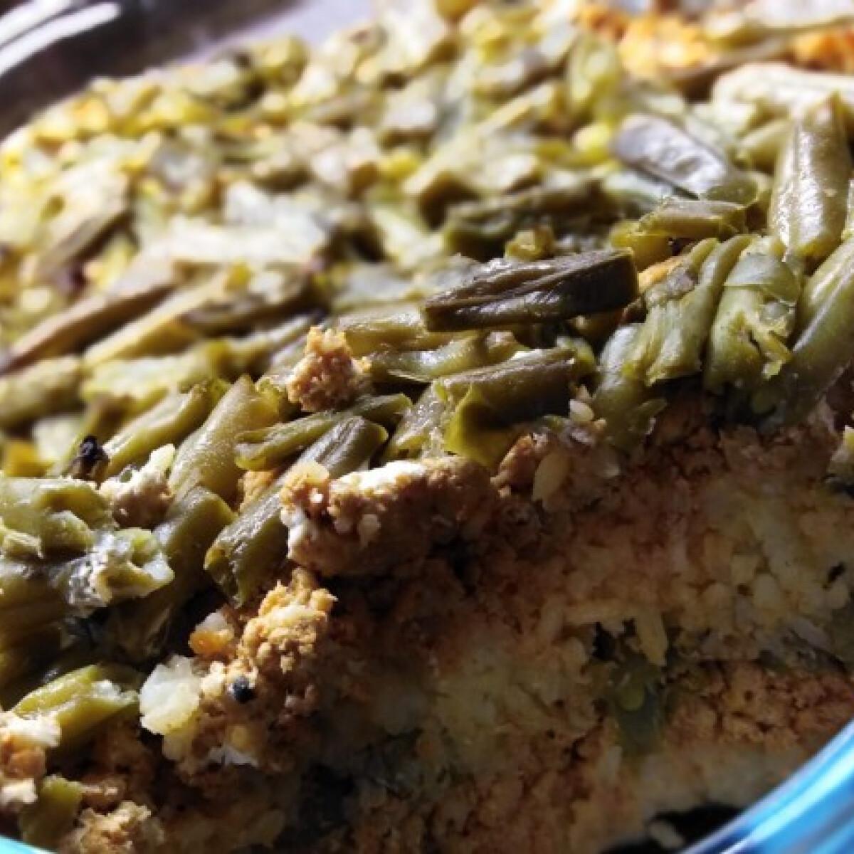 Ezen a képen: Rakott zöldbab Sajtosroló konyhájából