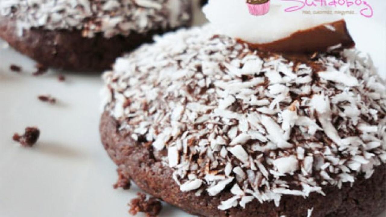 Kókusszal töltött csokis keksz