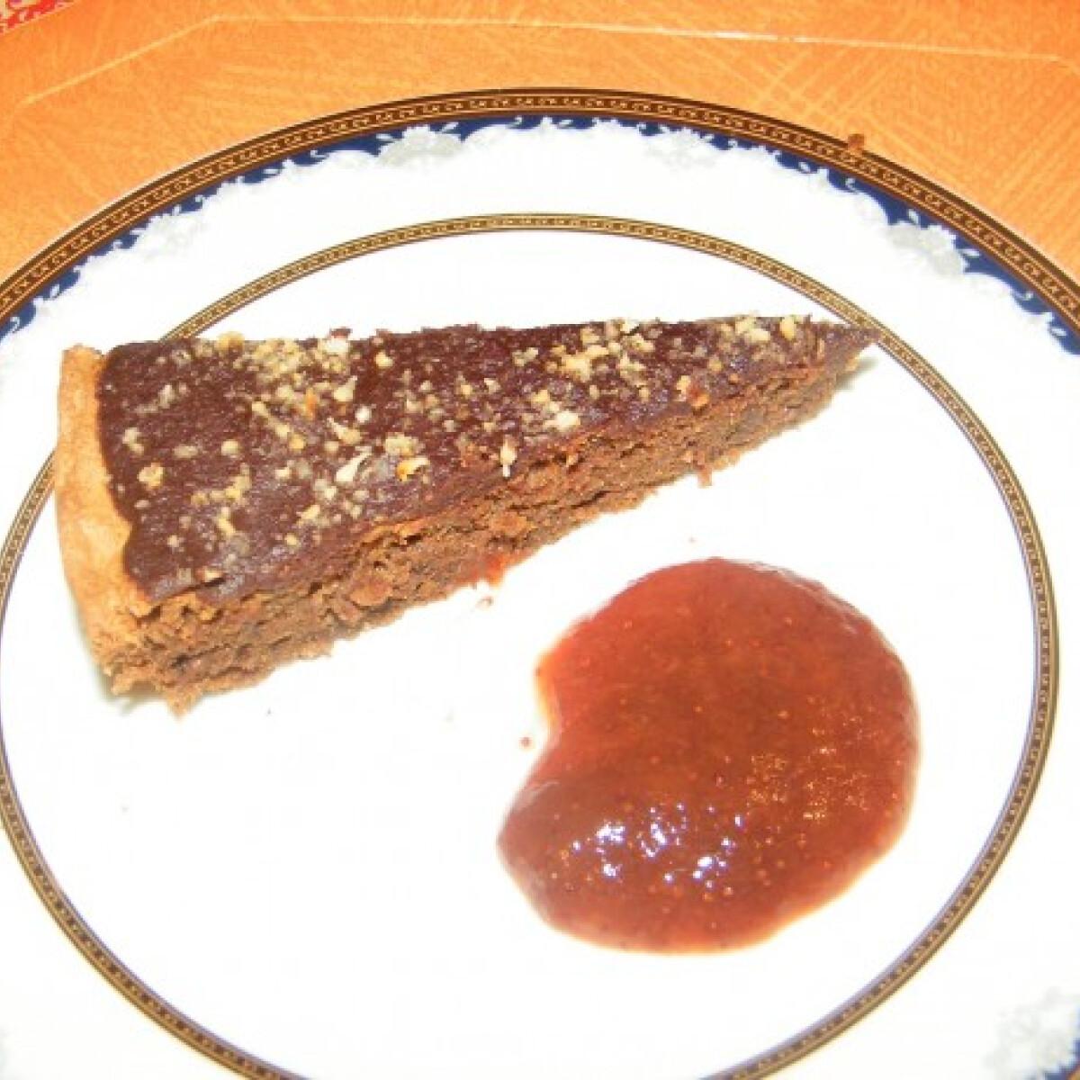 Ezen a képen: Lisztmentes-mogyorós csokitorta