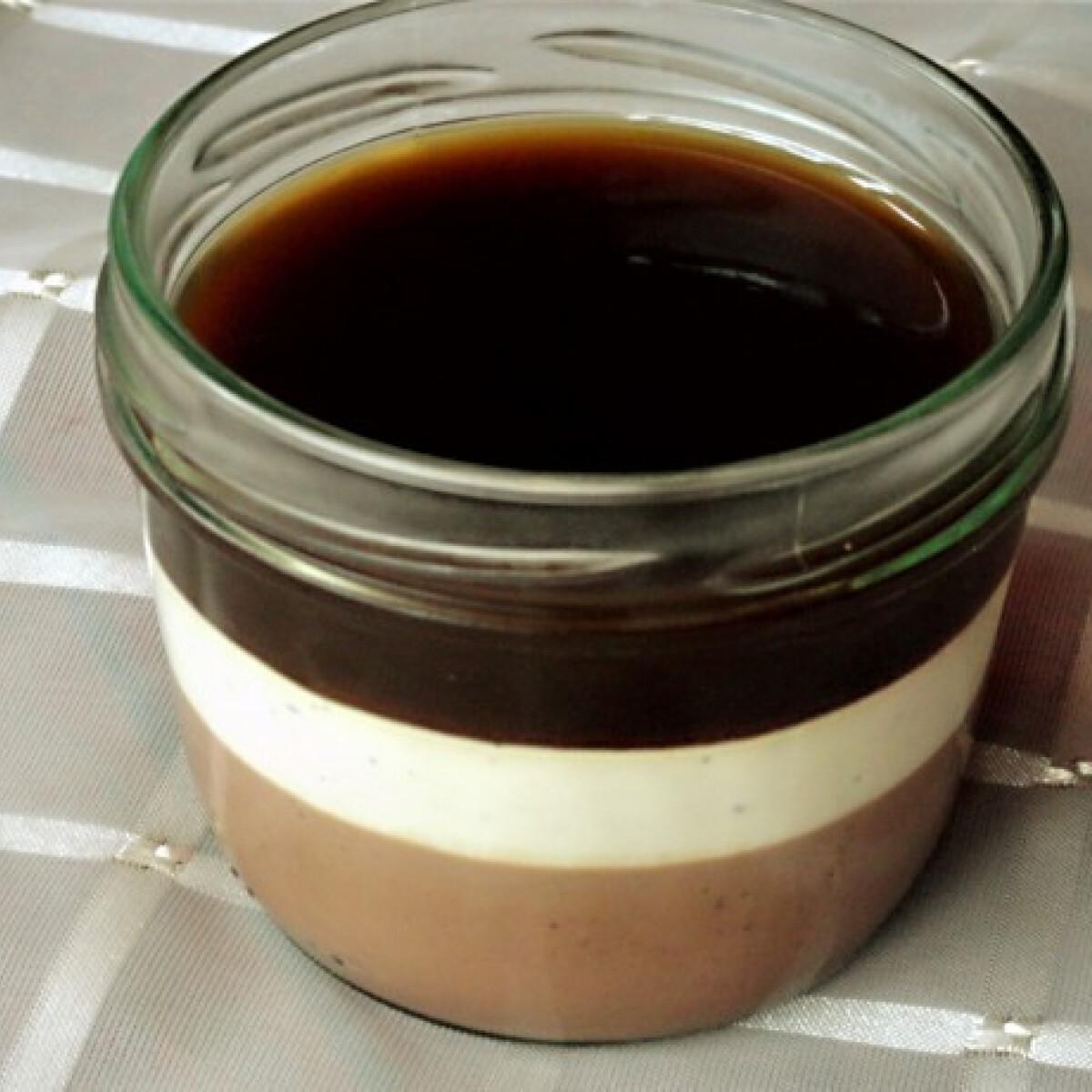 Kávés-citromos panna-cotta