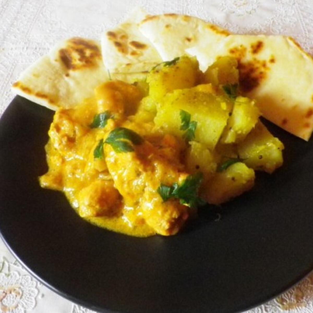 Mangós-kókuszos csirke curry