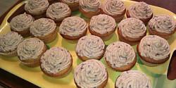 Málnás cupcake