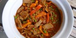 Zöldborsós marhahús vagy sertés