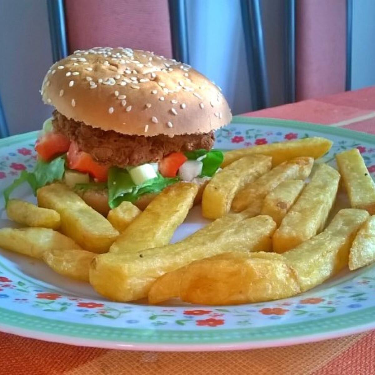 Ezen a képen: Vega burger