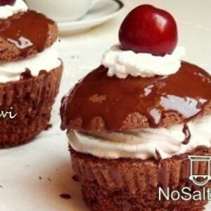 Feketeerdei cseresznyés muffin