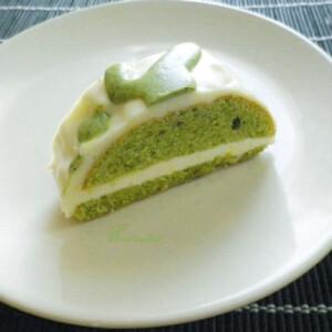 Zöld teás chiffon torta mascarpone krémmel