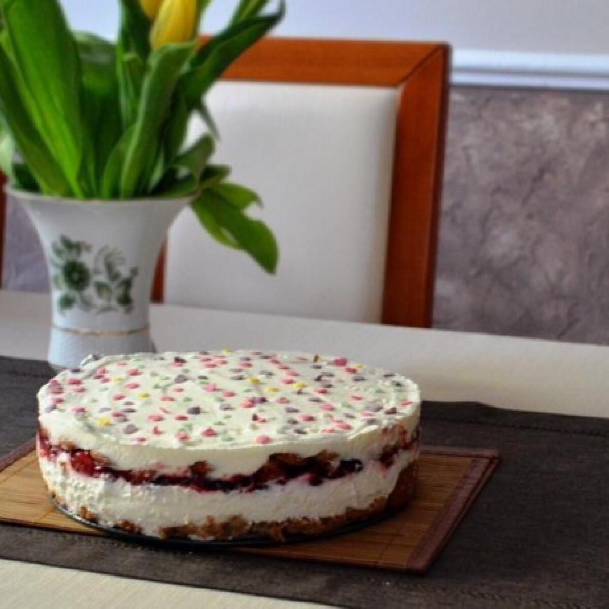 Ezen a képen: Gyümölcsös-joghurtos torta