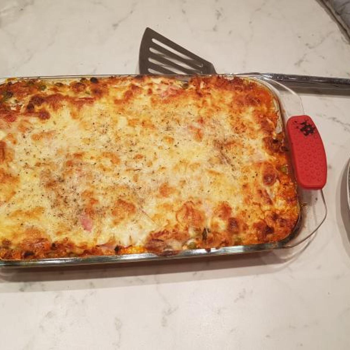 Ezen a képen: Csirkés-zöldséges lasagne, ahogy Evelin készíti