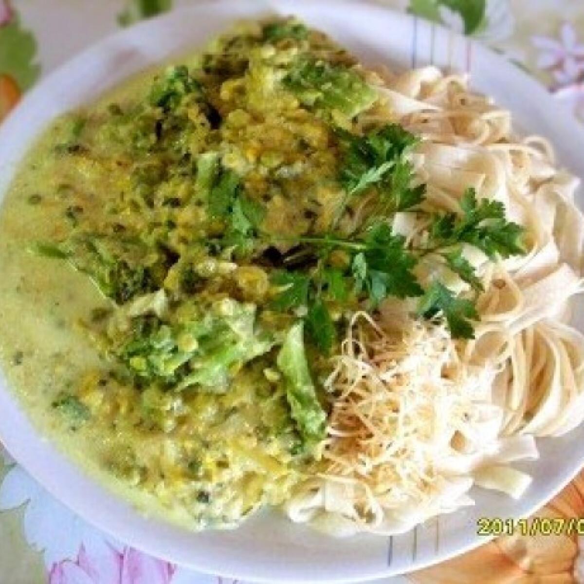 Cukkinis-brokkolis tejszínes szósz