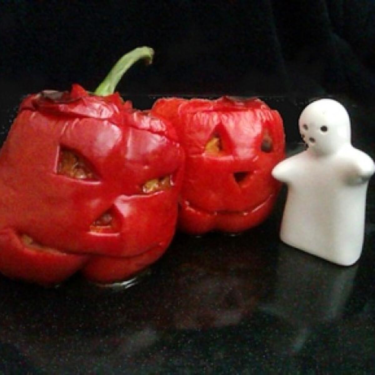 Ezen a képen: Chilis bab Halloweenra