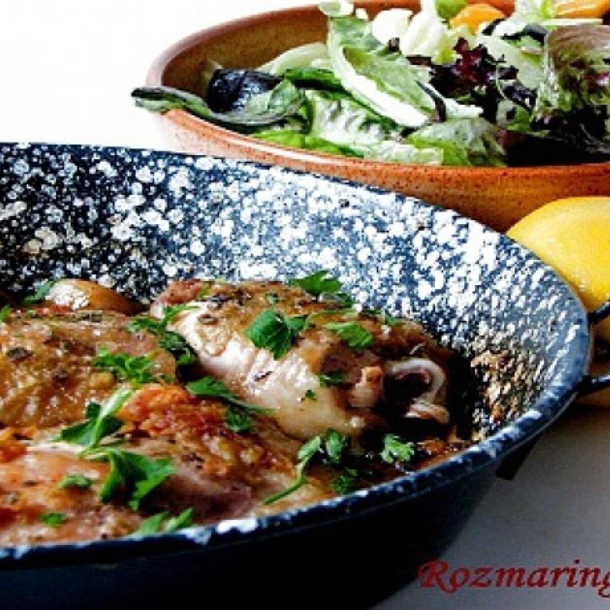 Ezen a képen: Citromos csirke Mamma Agata konyhájából