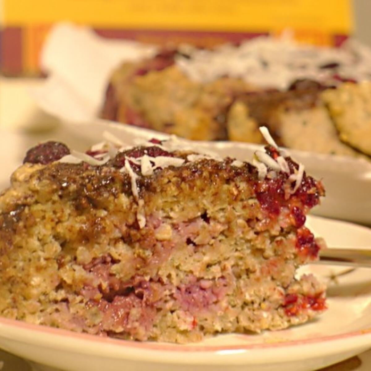 Ezen a képen: Diétás zabpelyhes málnás tortácska