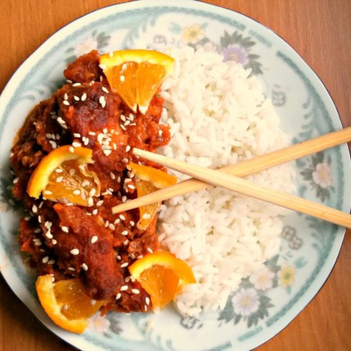 Ezen a képen: Kínai narancsos csirke