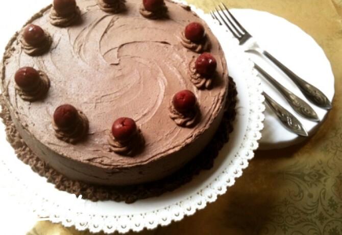 Ezen a képen: Lúdláb torta ahogy Csokoládéimádó készíti