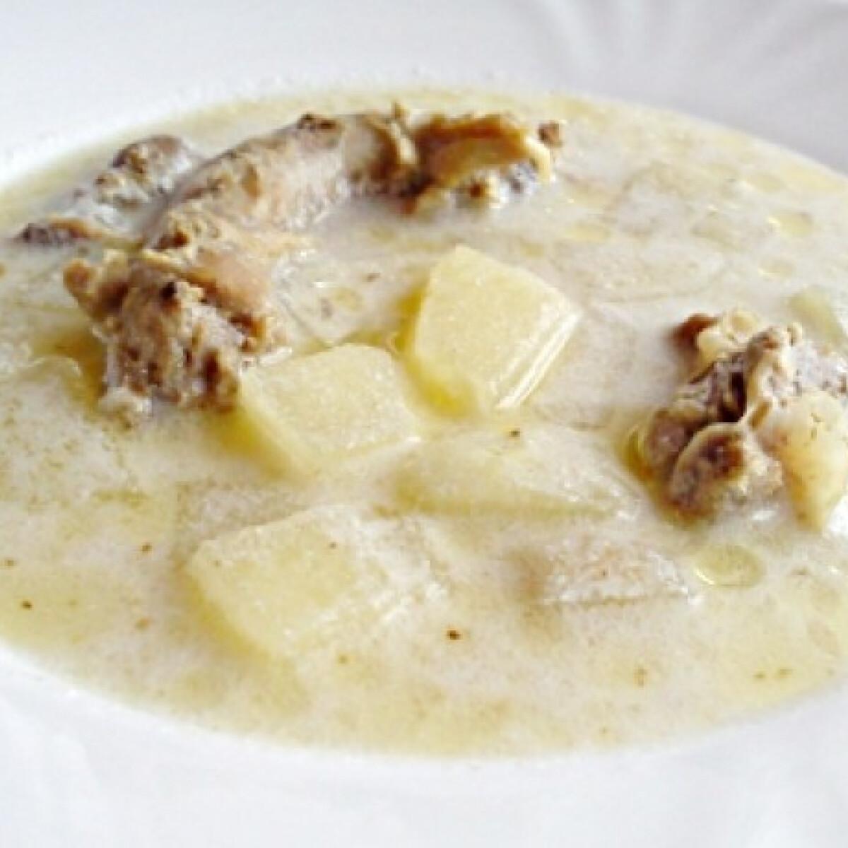 Ezen a képen: Almás csirkeaprólék leves