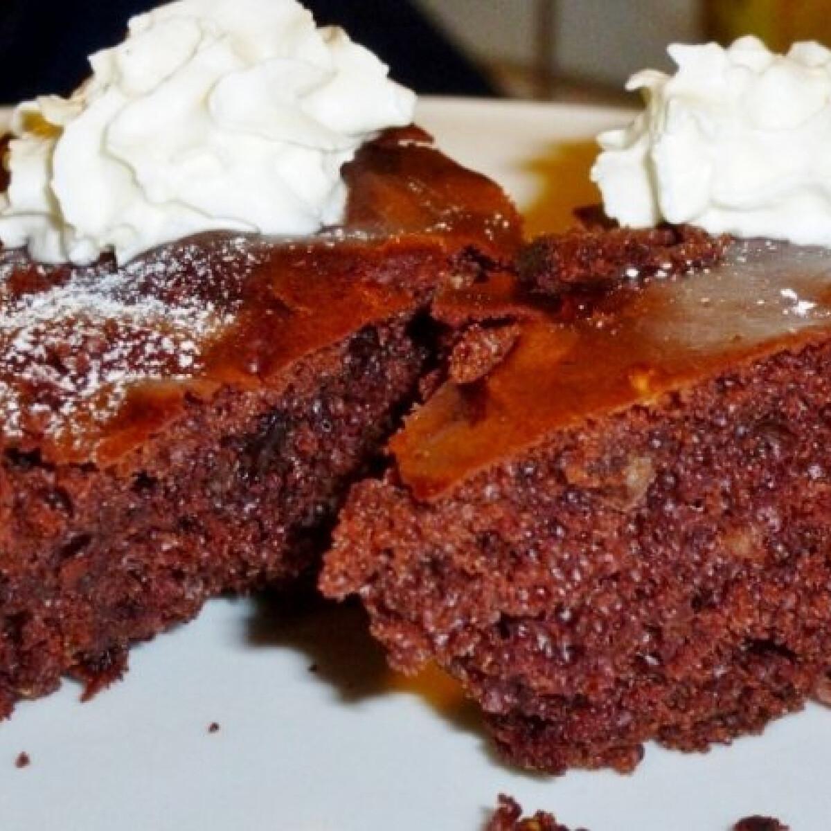 Kevert csokis süti fügével és mandulával