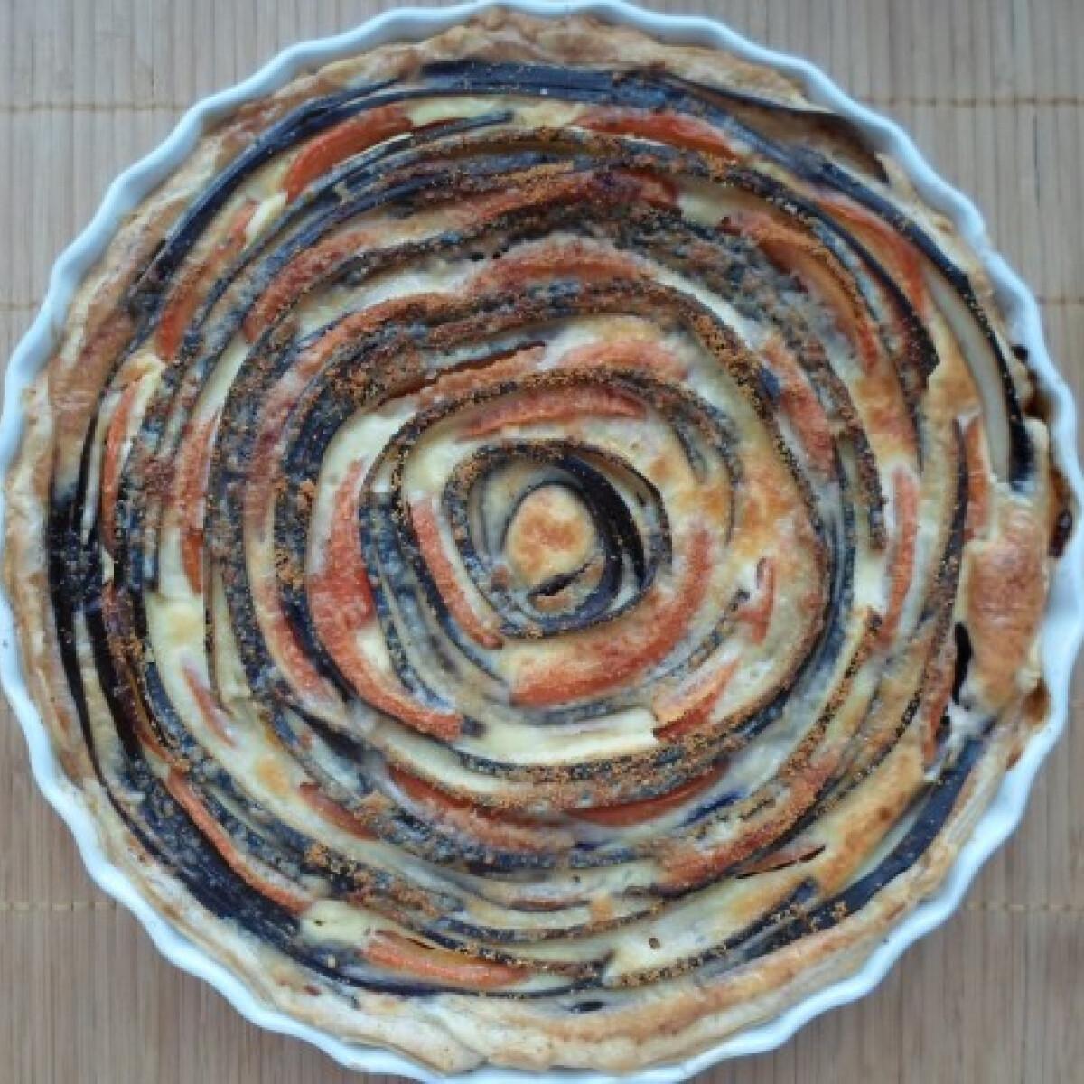 Paradicsomos-padlizsános pite
