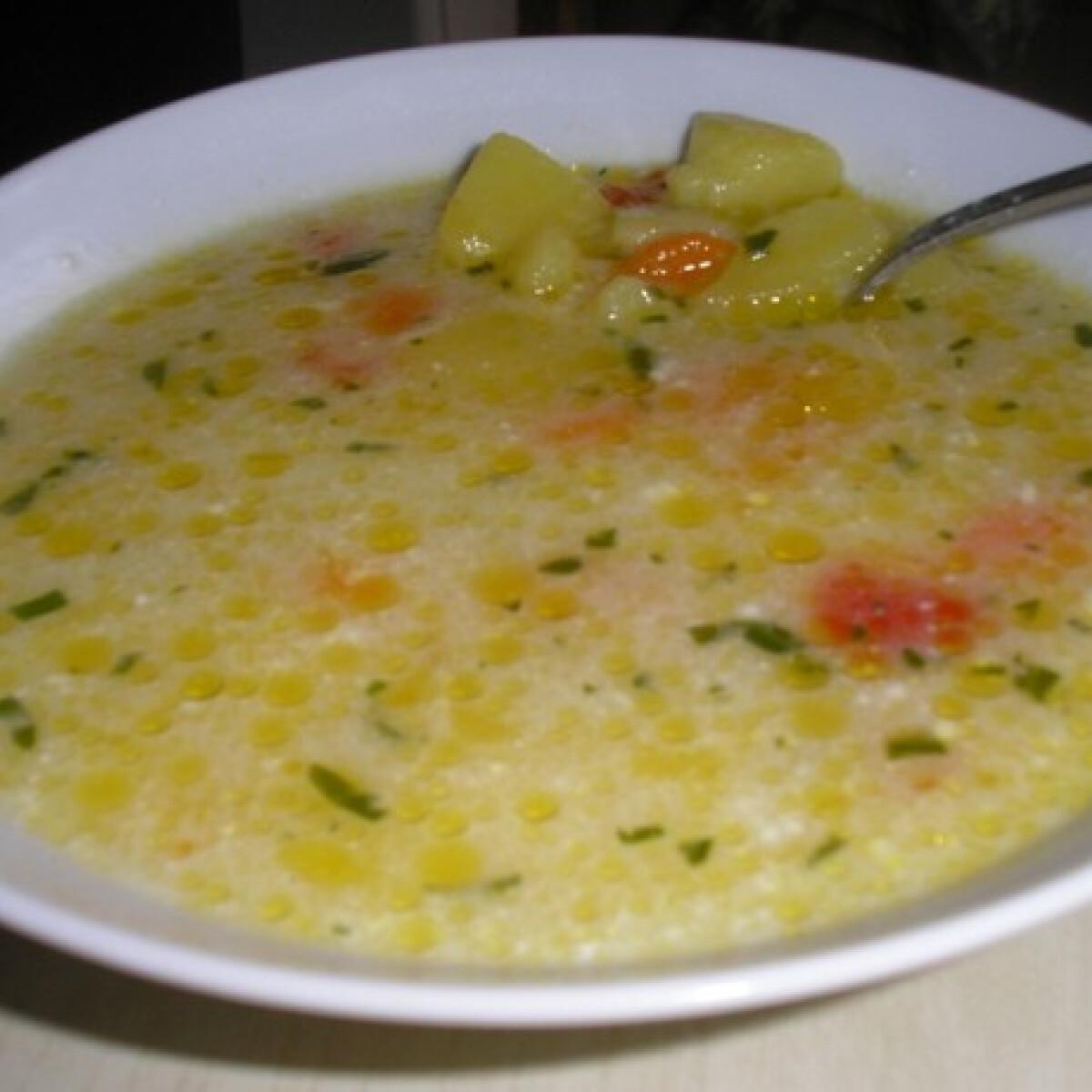 Ezen a képen: Tárkonyos burgonyaleves Zsuzsamama konyhájából