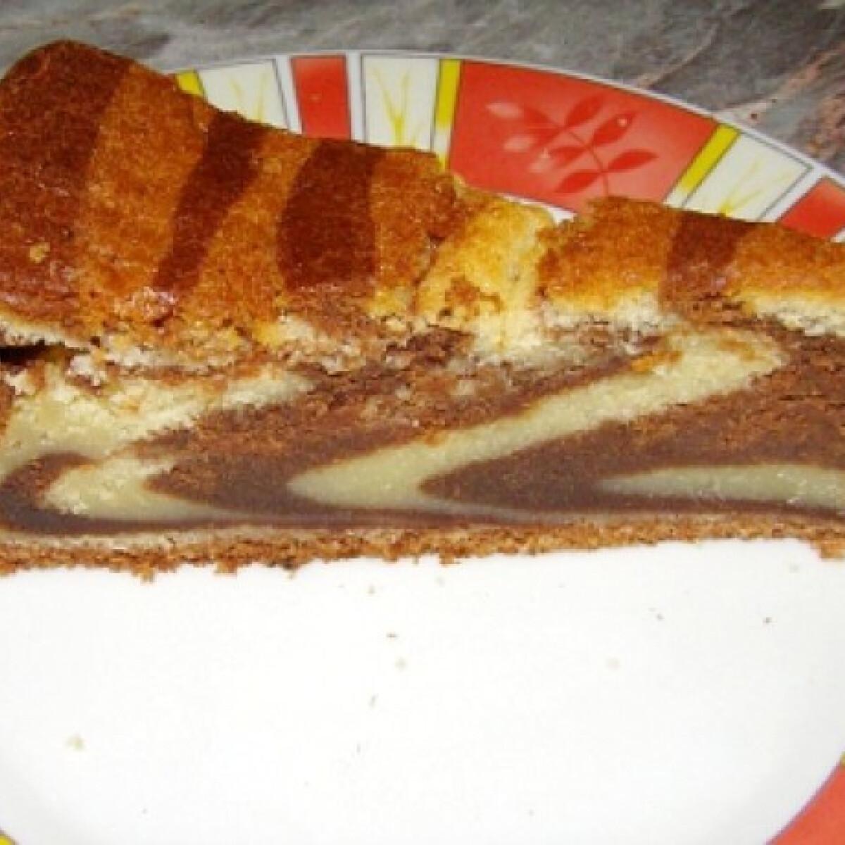 Ezen a képen: Kétcsokis csíkos süti