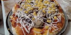 Kolbászos pizza Ciccke konyhájából